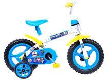 Bicicleta Infantil Aro 12 Styll Baby  - Clubinho Salva Vidas Azul e Branco com Rodinhas