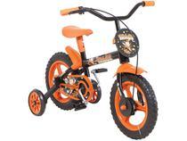 Bicicleta Infantil Aro 12 Track & Bikes - Arco Iris PO Preto e Laranja com Rodinhas