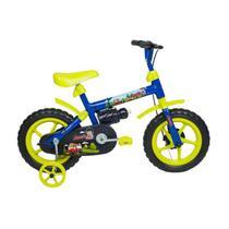 Bicicleta Infantil Aro 12 Verden Bikes Jack Azul E Verde Limão -