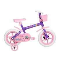 Bicicleta Infantil Aro 12 Verden Bikes Paty Lilás E Rosa -