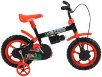 Bicicleta Infantil Aro 12 Verden Jack - Preta e Laranja com Rodinhas