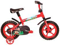 Bicicleta Infantil Aro 12 Verden Jack - Vermelha e Preta com Rodinhas