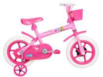 Bicicleta Infantil Aro 12 Verden Paty - Rosa e Fúcsia com Rodinhas e Cesta