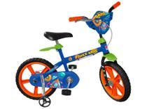 Bicicleta Infantil Aro 14 Bandeirante Power Game - Azul com Rodinhas