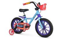 Bicicleta Infantil Aro 14 Com Rodinhas Menina Show Da Luna - Nathor -
