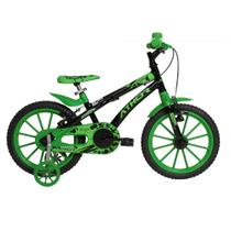 Bicicleta Infantil Aro 16 Athor Baby Lux A10 Masculina Preto Verde -