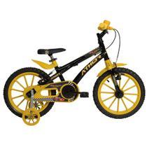 Bicicleta Infantil Aro 16 Athor Baby Lux Cars Masculino Bike Preto -