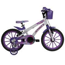 Bicicleta Infantil Aro 16 Athor Baby Lux Unicornio Feminina -