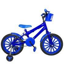 Bicicleta Infantil Aro 16 Azul Kit Azul Promocional - Flexbikes
