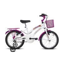 Bicicleta infantil aro 16 breeze branco e pink verden bikes -