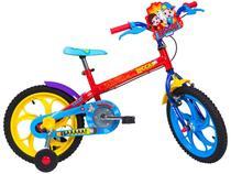 Bicicleta Infantil Aro 16 Caloi A20 Luccas Neto - 1 Marcha Vermelho com Rodinhas