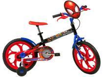 Bicicleta Infantil Aro 16 Caloi A20 Spider-Man  - 1 Marcha Preto com Rodinhas