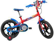 Bicicleta Infantil Aro 16 Caloi Spider Man - Vermelha com Rodinhas