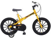 Bicicleta Infantil Aro 16 Colli Bike Hot Colli - Amarela com Rodinhas Freio V-Brake