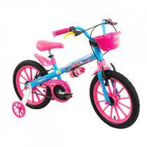 Bicicleta Infantil Aro 16 Com Rodinhas Menina Candy - Nathor -