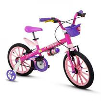 Bicicleta Infantil Aro 16 Com Rodinhas Menina Top Girls - Nathor -