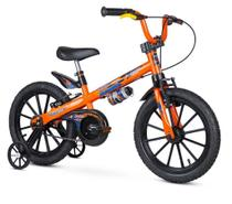 Bicicleta Infantil Aro 16 Com Rodinhas Menino Extreme - Laranja - Nathor -