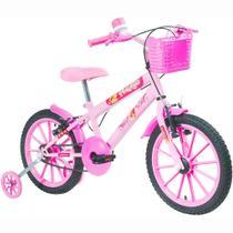 Bicicleta Infantil Aro 16 Feminina Rosa - Polimet -