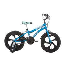 Bicicleta Infantil Aro 16 Houston Nic Com Rodinhas Azul Fosco -
