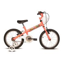 Bicicleta infantil aro 16 kids salmão e branco verden bikes -