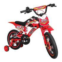 Bicicleta Infantil Aro 16 Moto Cross Vermelha 1172 - Unitoys -