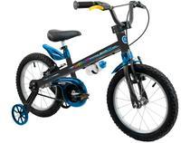 Bicicleta Infantil Aro 16 Nathor Apollo Preto - com Rodinhas Freio V-Brake