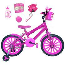 Bicicleta Infantil Aro 16 Pink Kit Pink C/ Acessórios E Kit Proteção - FlexBikes