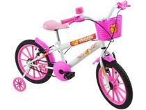 Bicicleta Infantil Aro 16 Polimet Polikids  - Dengosinha com Rodinhas com Cesta Freio V-Brake