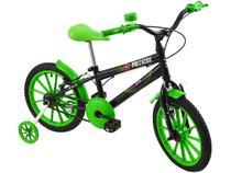 Bicicleta Infantil Aro 16 Polimet Polikids - Power Racer com Rodinhas Freio V-Brake