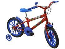 Bicicleta Infantil Aro 16 Polimet Polikids - Turbinho com Rodinhas Freio V-Brake