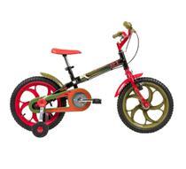Bicicleta Infantil Aro 16 Power Rex com rodinhas Caloi -