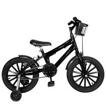 Bicicleta Infantil Aro 16 Preta Kit Preto Promocional - FlexBikes
