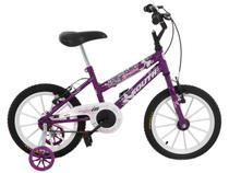 Bicicleta Infantil Aro 16 South Bike Nininha  - Violeta com Rodinhas Freio V-Brake