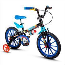 Bicicleta Infantil Aro 16 - Tech Boys - Menino - Preto e Azul - Nathor -