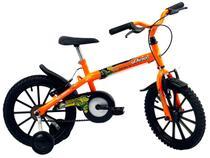Bicicleta Infantil Aro 16 Track & Bikes Dino Neon  - Laranja Neon Freio V-Brake