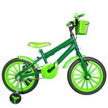 Bicicleta Infantil Aro 16 Verde Escuro Kit Verde Promocional - Flexbikes