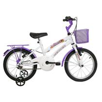 Bicicleta Infantil Aro 16 Verden Bikes Breeze Branca E Lilás -