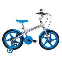 Bicicleta Infantil Aro 16 Verden Bikes Rock Prata E Azul -