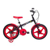 Bicicleta Infantil Aro 16 Verden Bikes Rock Vermelha E Preta -