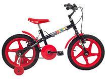 Bicicleta Infantil Aro 16 Verden Rock Vermelho  - com Rodinhas Freio V-Brake -