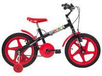 Bicicleta Infantil Aro 16 Verden Rock Vermelho  - com Rodinhas Freio V-Brake