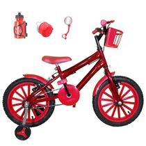 Bicicleta Infantil Aro 16 Vermelha Kit Vermelho C/ Acessórios - Flexbikes
