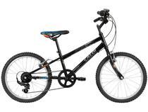 Bicicleta Infantil Aro 20 7 Marchas Caloi  - Hot Wheels Preta Freio V-Brake
