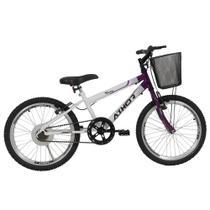 Bicicleta Infantil Aro 20 Athor Charme Feminina Com Cesta -