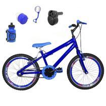 Bicicleta Infantil Aro 20 Azul Kit e Roda Aero Azul C/ Acelerador Sonoro - Flexbikes