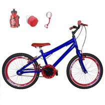 Bicicleta Infantil Aro 20 Azul Kit E Roda Aero Vermelha Com Acessórios - Flexbikes
