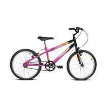 Bicicleta infantil aro 20 brave preto e pink verden bikes -