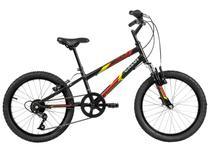 Bicicleta Infantil Aro 20 Caloi Snap 7 Marchas - Preta Freio V-Brake