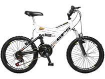 Bicicleta Infantil Aro 20 Colli Bike GPS  - 21 Marchas Branca Freio V-Brake