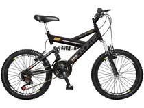 Bicicleta Infantil Aro 20 Colli Bike GPS  - 21 Marchas Preta Freio V-Brake